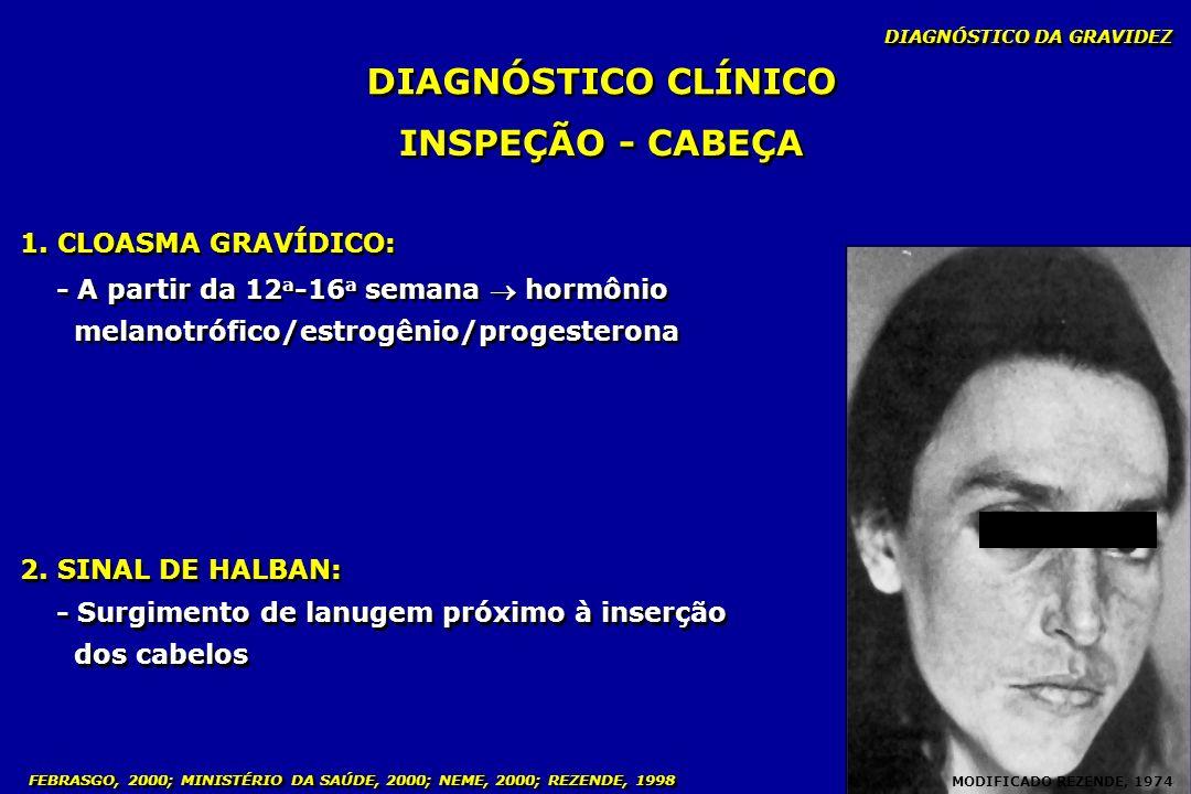 DIAGNÓSTICO CLÍNICO INSPEÇÃO - CABEÇA