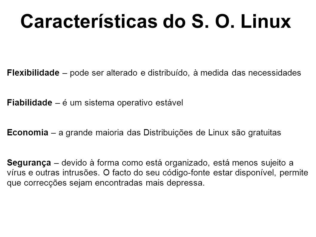 Características do S. O. Linux