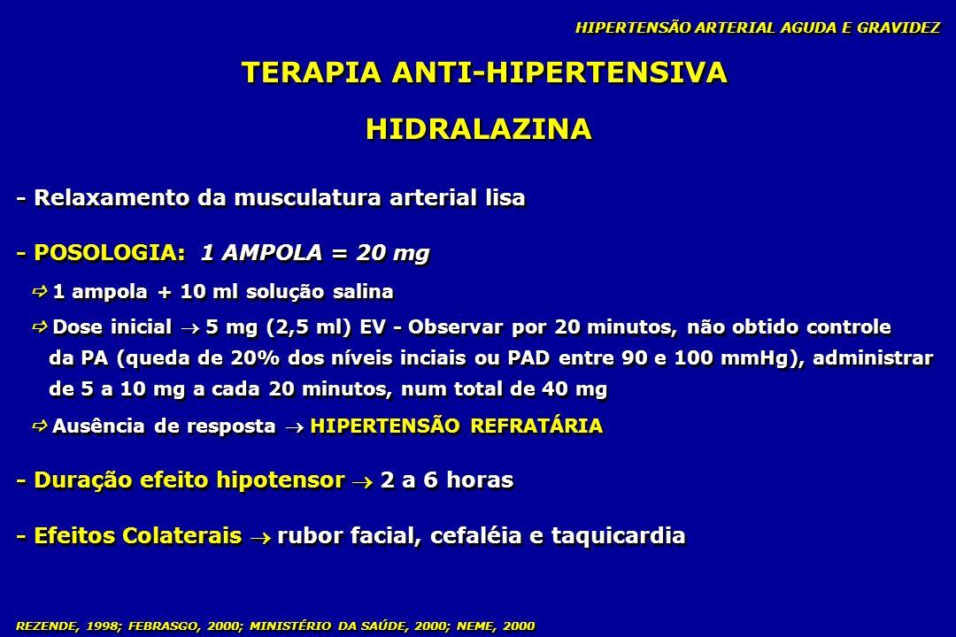 TERAPIA ANTI-HIPERTENSIVA