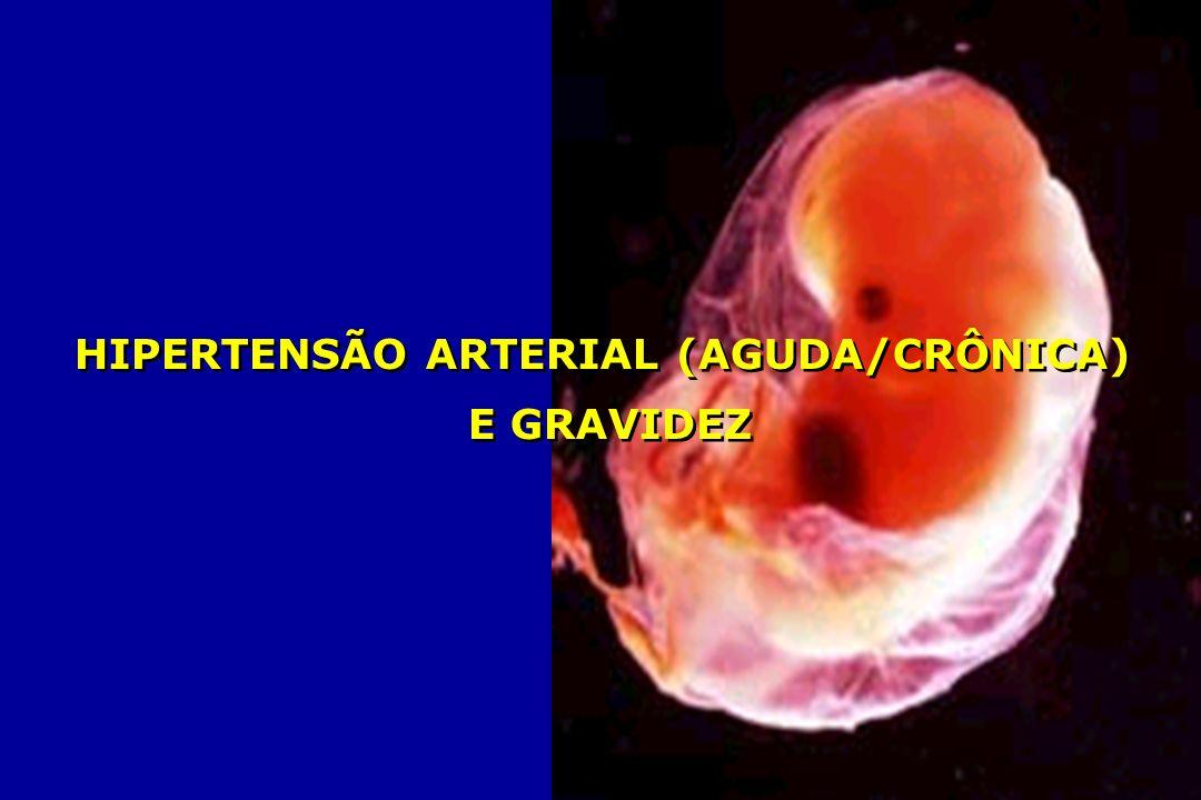 HIPERTENSÃO ARTERIAL (AGUDA/CRÔNICA)