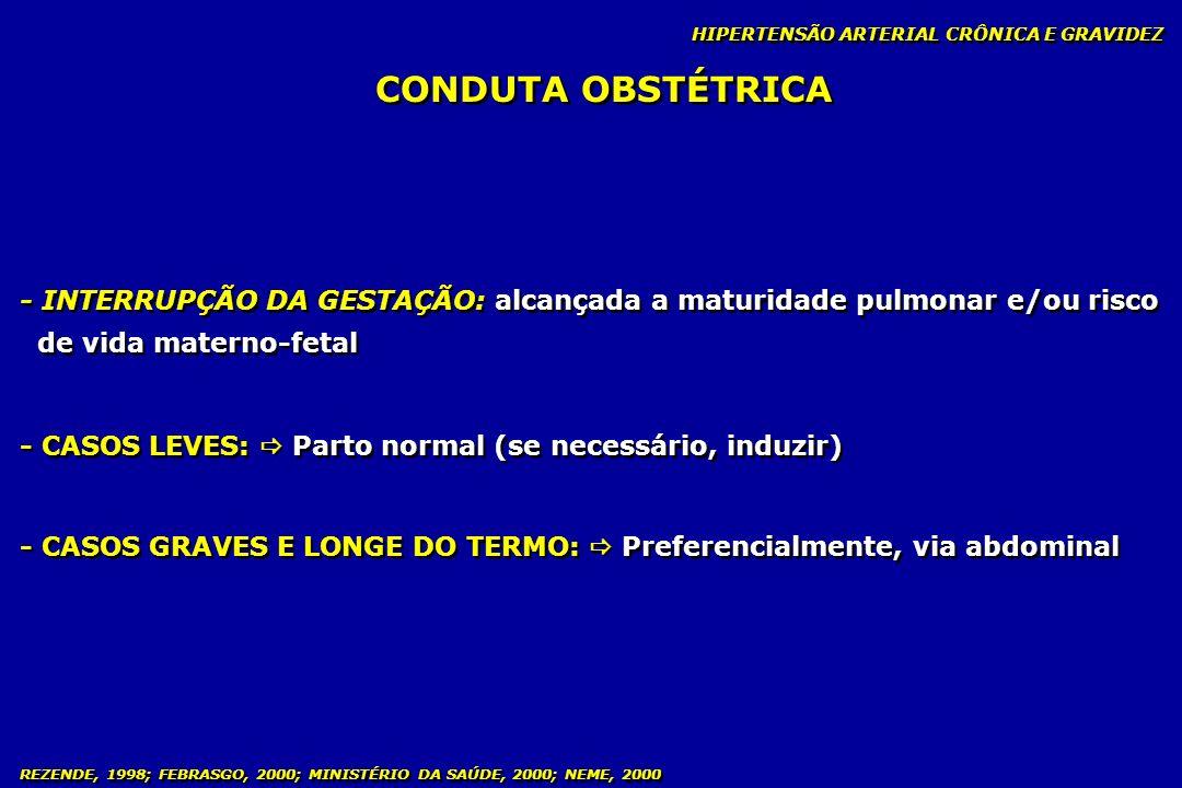 HIPERTENSÃO ARTERIAL CRÔNICA E GRAVIDEZ