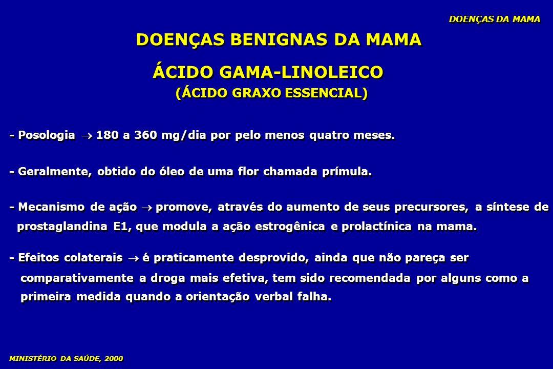 DOENÇAS BENIGNAS DA MAMA (ÁCIDO GRAXO ESSENCIAL)