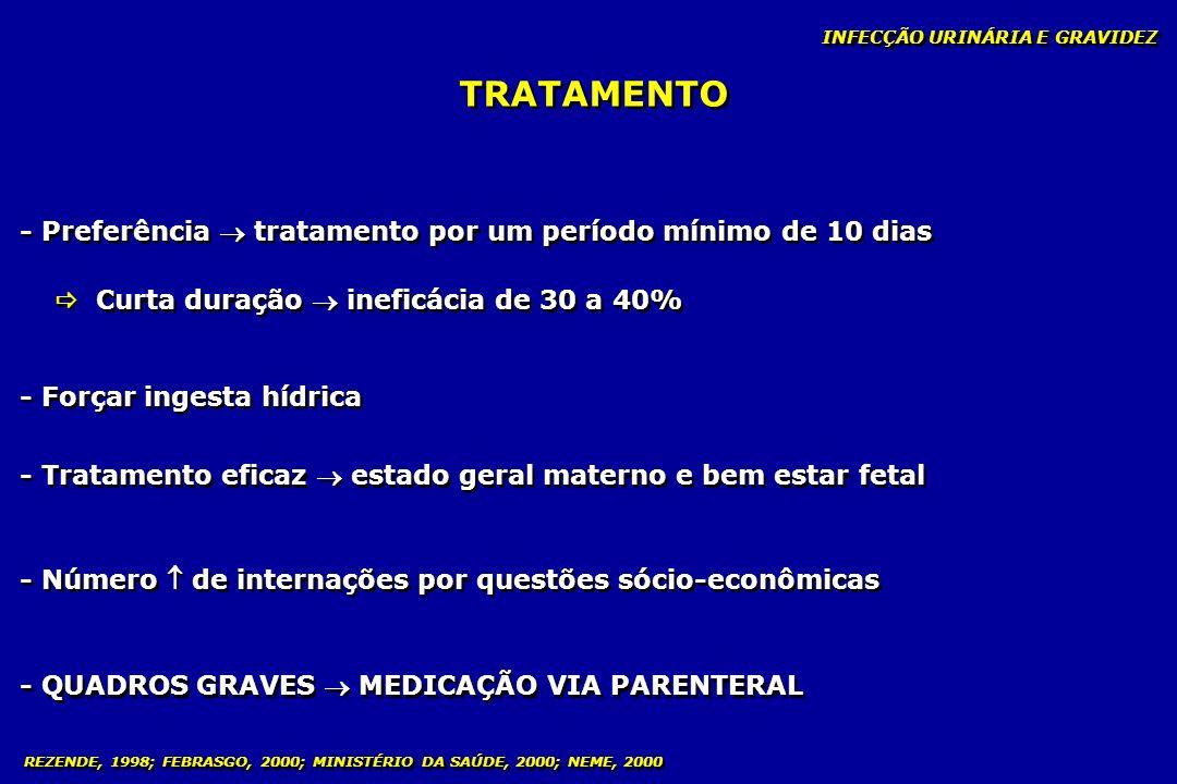 TRATAMENTO - Preferência  tratamento por um período mínimo de 10 dias