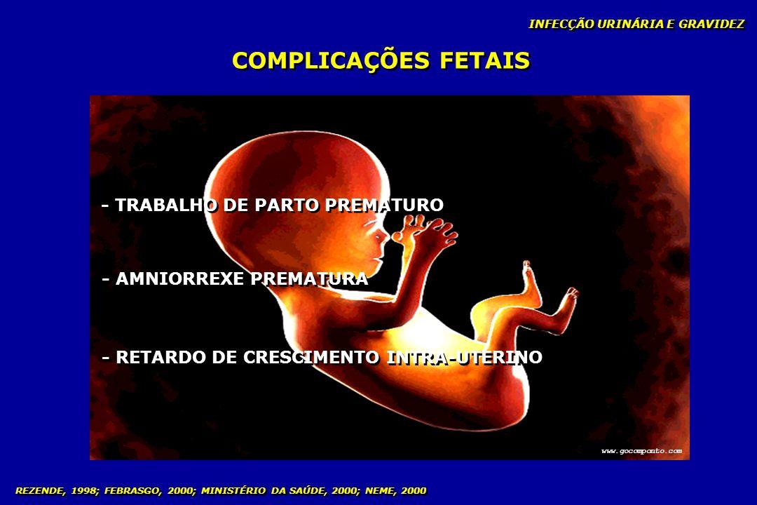 COMPLICAÇÕES FETAIS - TRABALHO DE PARTO PREMATURO