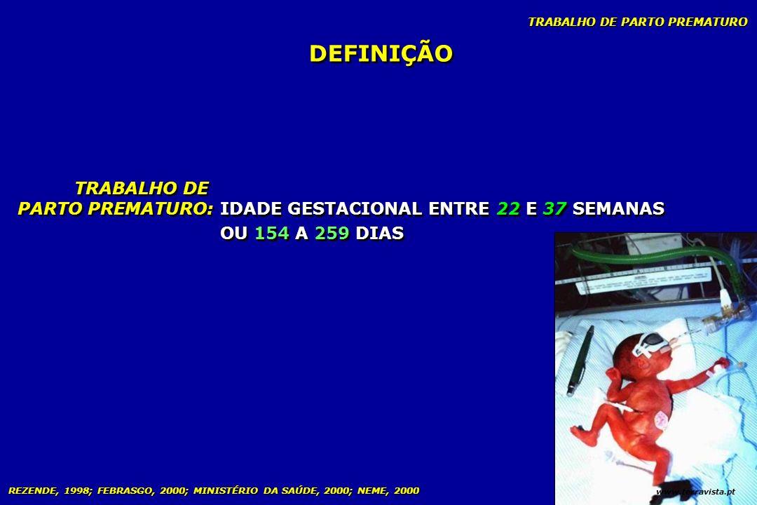 DEFINIÇÃO TRABALHO DE PARTO PREMATURO: