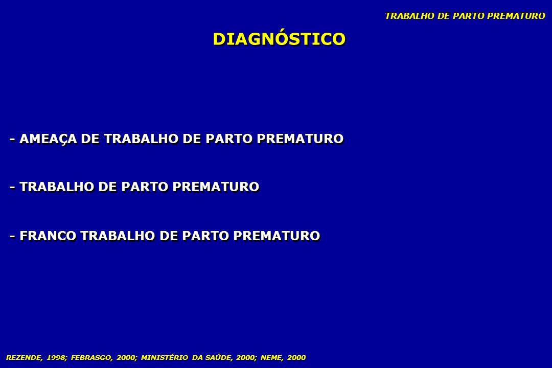 DIAGNÓSTICO - AMEAÇA DE TRABALHO DE PARTO PREMATURO