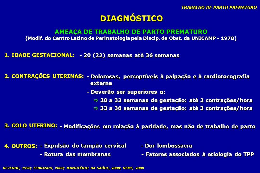 AMEAÇA DE TRABALHO DE PARTO PREMATURO