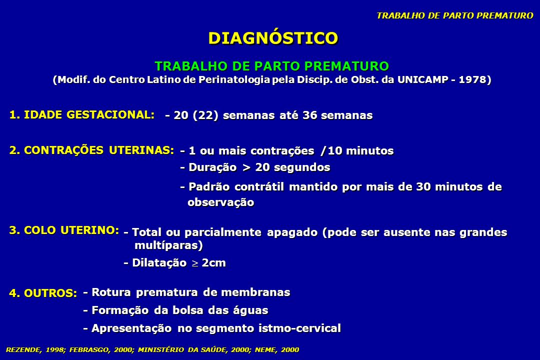 TRABALHO DE PARTO PREMATURO