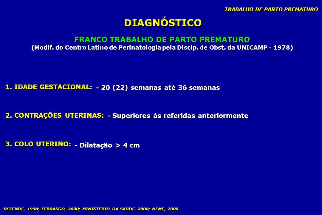 FRANCO TRABALHO DE PARTO PREMATURO