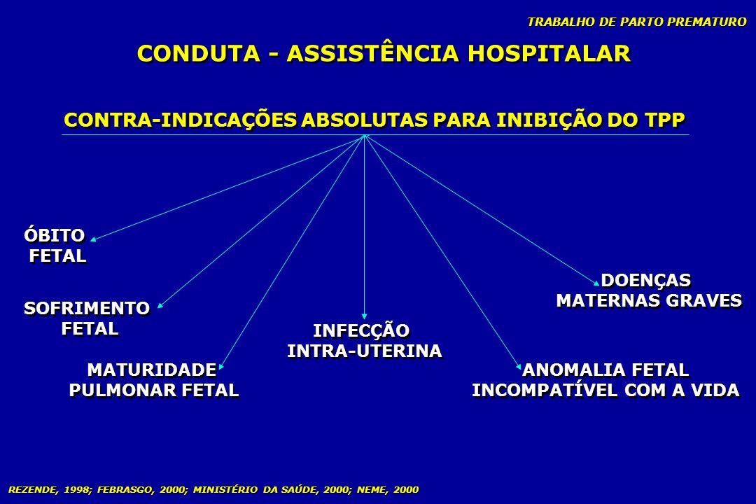 CONDUTA - ASSISTÊNCIA HOSPITALAR