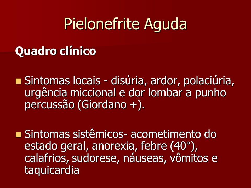 Pielonefrite Aguda Quadro clínico