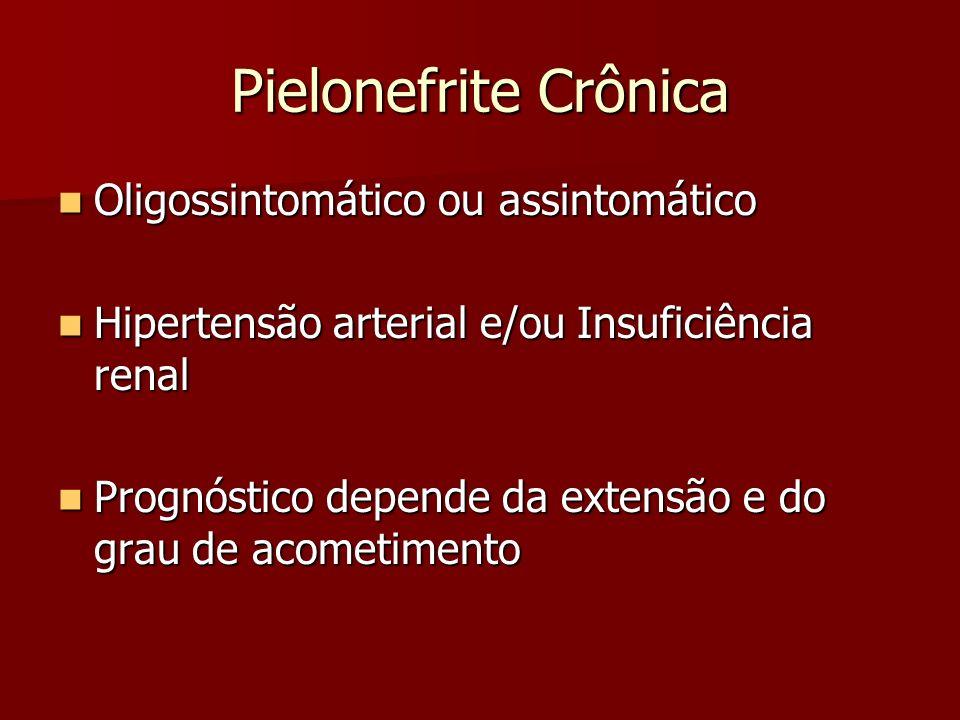 Pielonefrite Crônica Oligossintomático ou assintomático