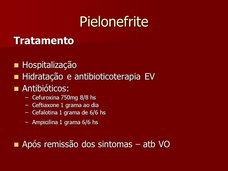 Pielonefrite Tratamento Hospitalização