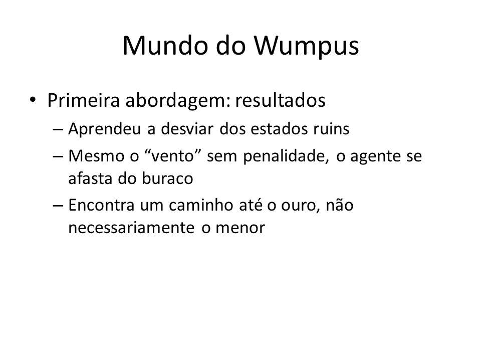 Mundo do Wumpus Primeira abordagem: resultados