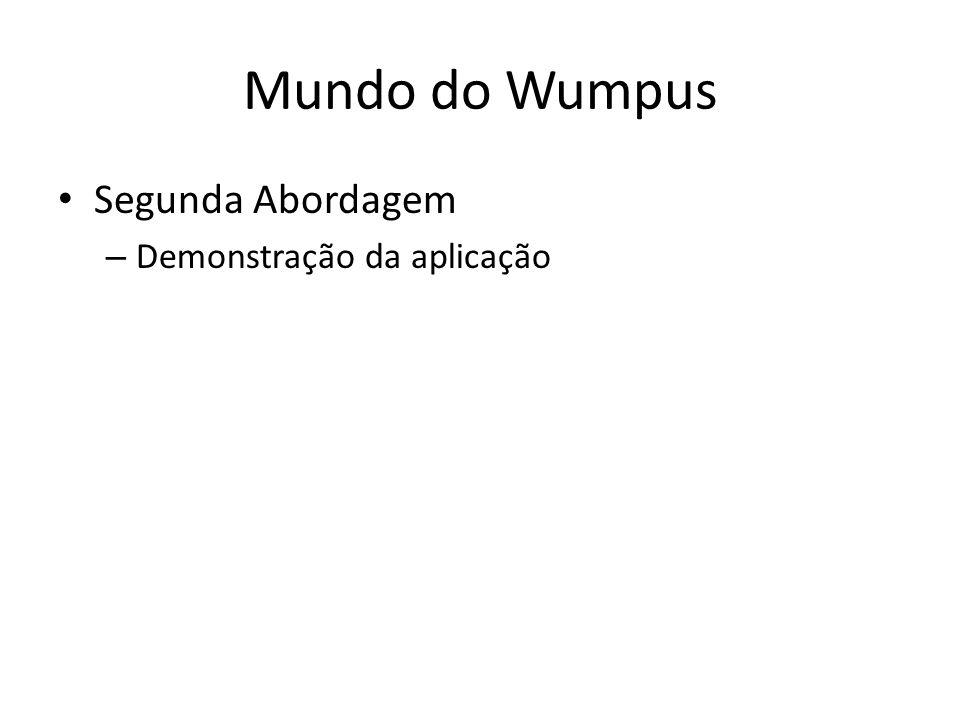 Mundo do Wumpus Segunda Abordagem Demonstração da aplicação