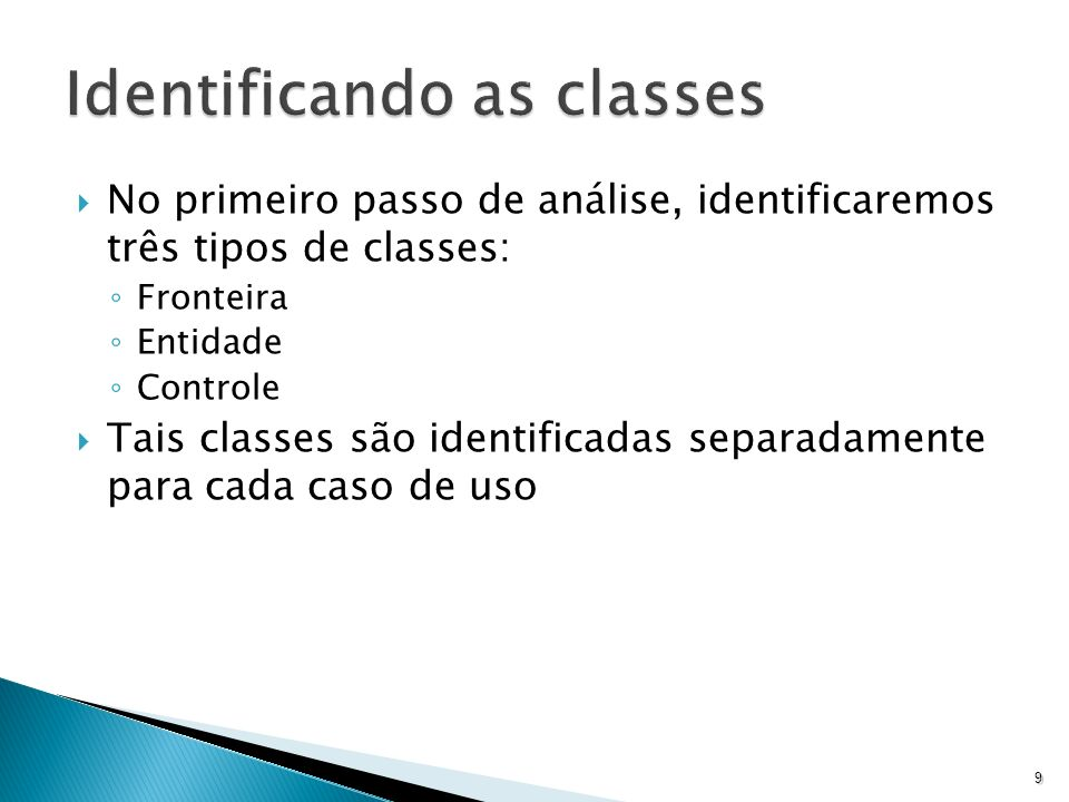 Identificando as classes
