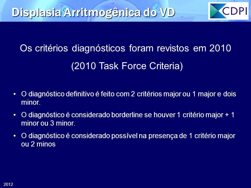 Os critérios diagnósticos foram revistos em 2010