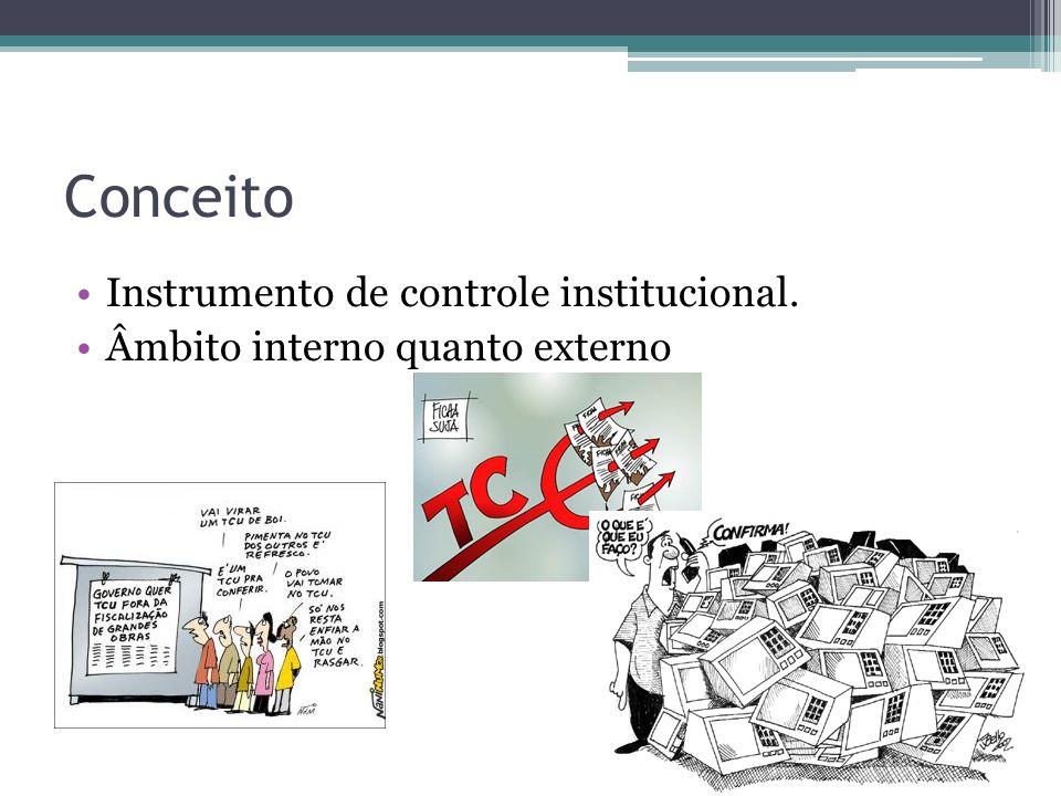 Conceito Instrumento de controle institucional.