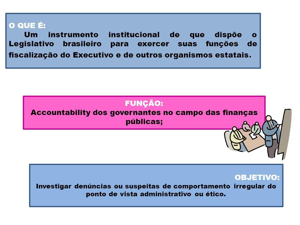 Accountability dos governantes no campo das finanças públicas;