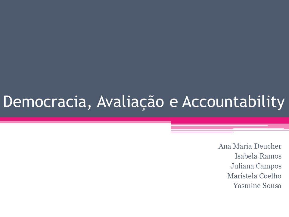 Democracia, Avaliação e Accountability