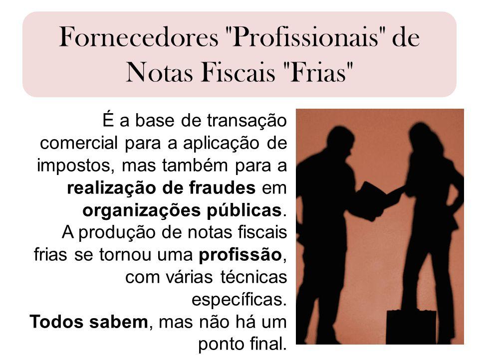 Fornecedores Profissionais de Notas Fiscais Frias