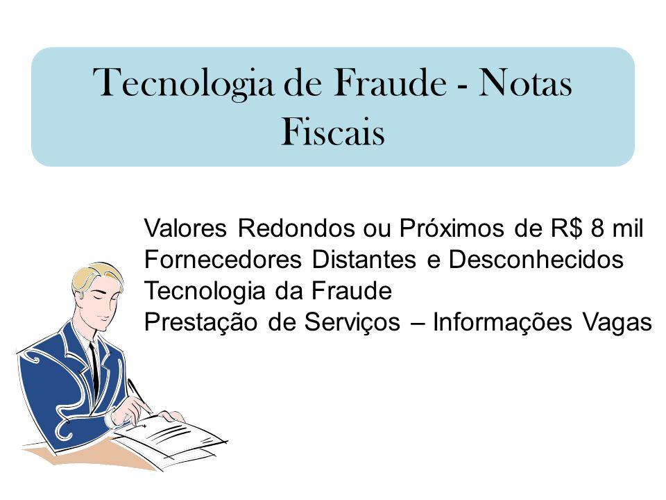 Tecnologia de Fraude - Notas Fiscais
