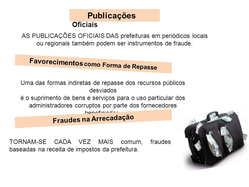Favorecimentos como Forma de Repasse Fraudes na Arrecadação