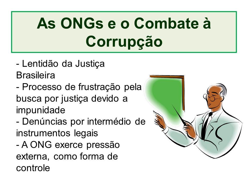 As ONGs e o Combate à Corrupção