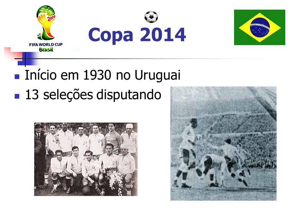 Copa 2014 Início em 1930 no Uruguai 13 seleções disputando