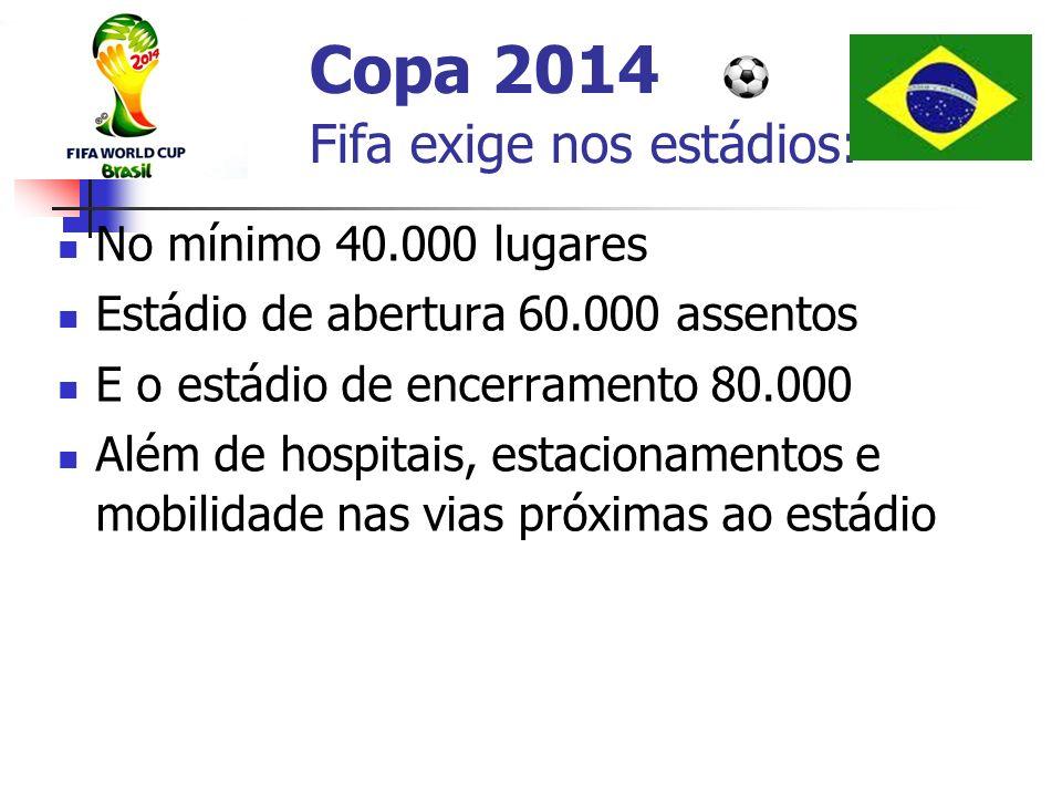 Copa 2014 Fifa exige nos estádios: