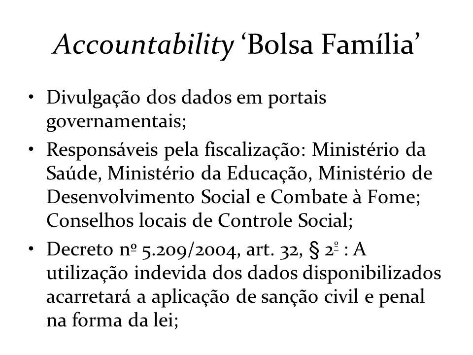 Accountability 'Bolsa Família'