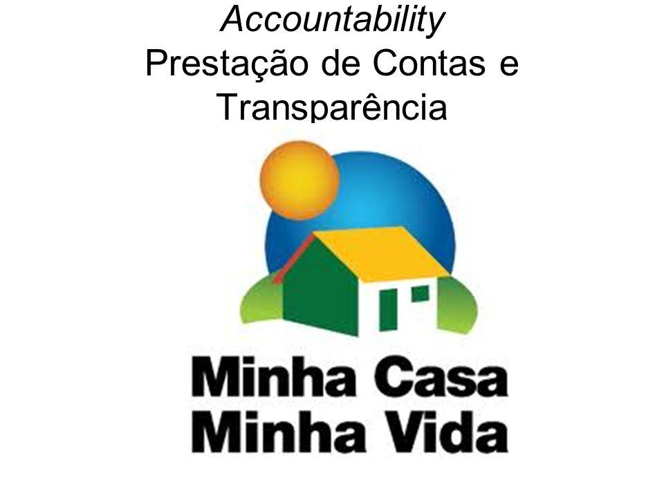 Accountability Prestação de Contas e Transparência
