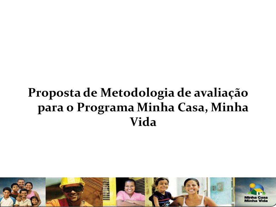 Proposta de Metodologia de avaliação para o Programa Minha Casa, Minha Vida