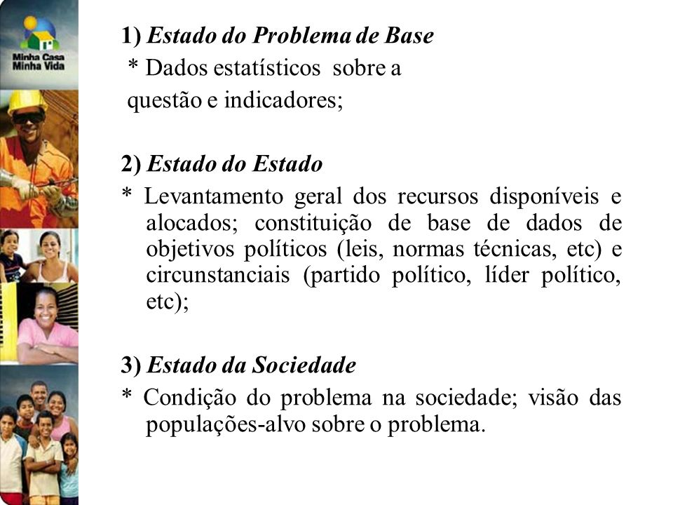 1) Estado do Problema de Base
