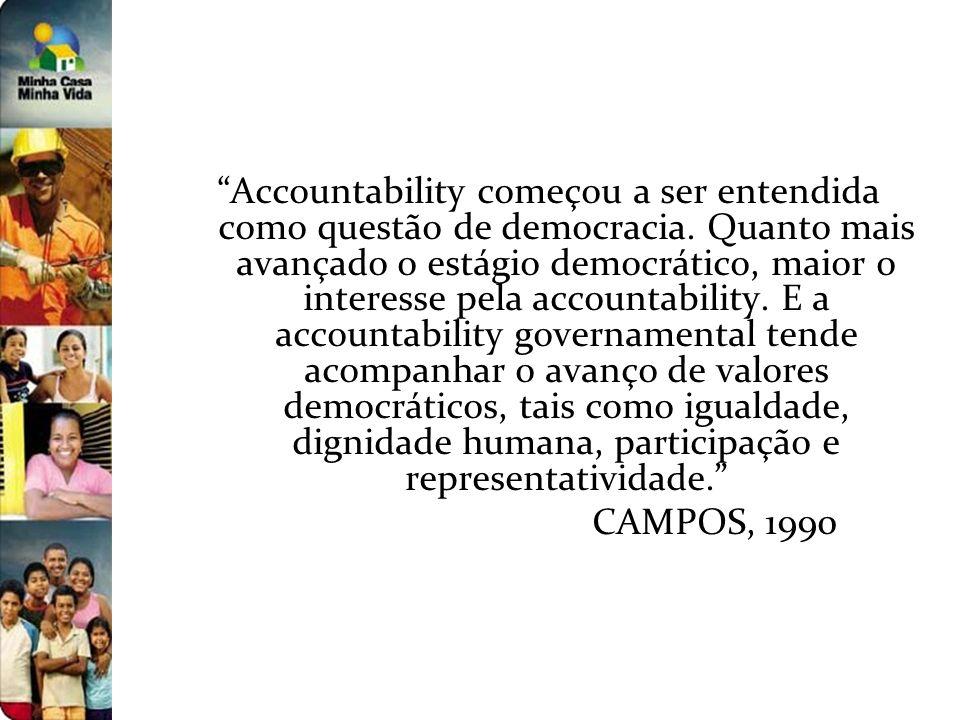 Accountability começou a ser entendida como questão de democracia