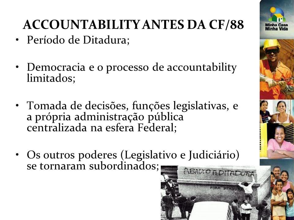ACCOUNTABILITY ANTES DA CF/88