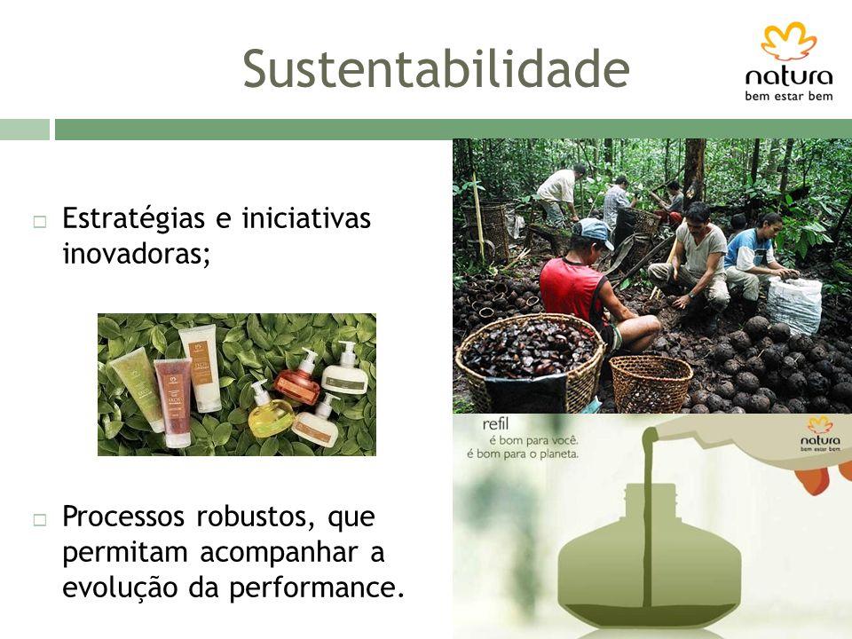 Sustentabilidade Estratégias e iniciativas inovadoras;