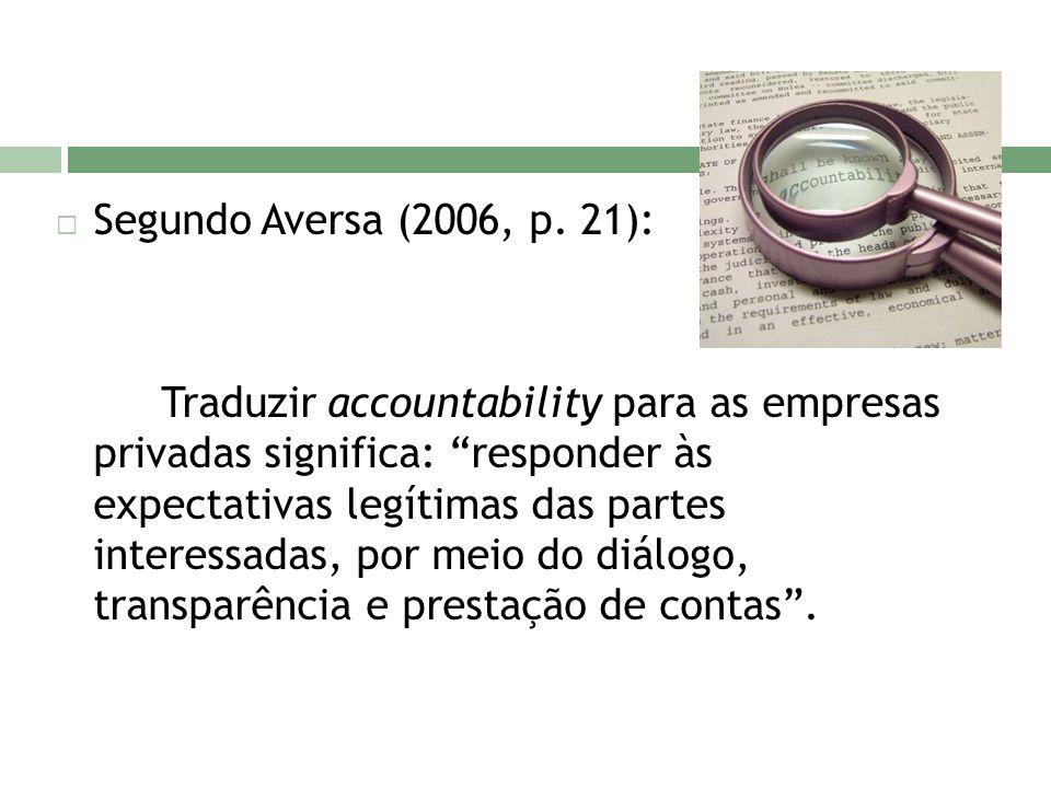 Segundo Aversa (2006, p. 21):