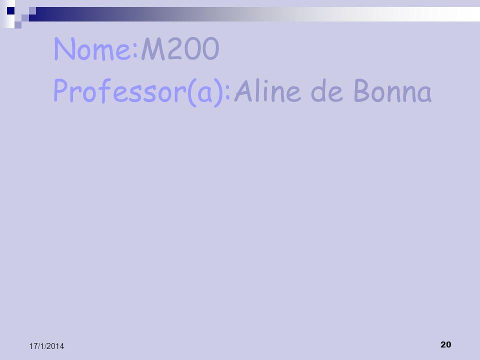 Professor(a):Aline de Bonna