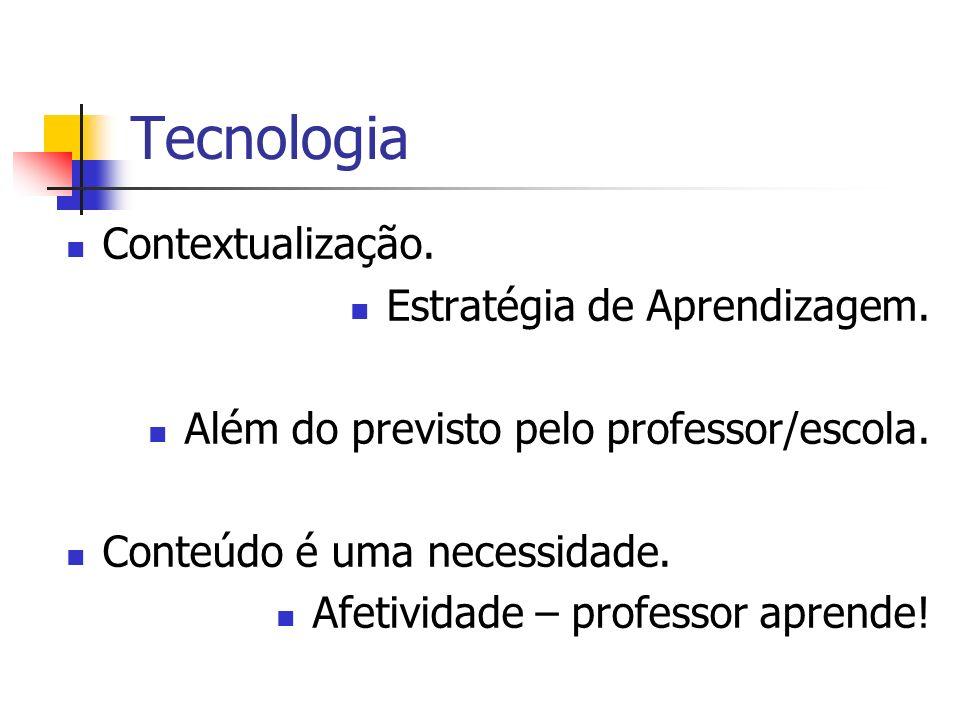 Tecnologia Contextualização. Estratégia de Aprendizagem.