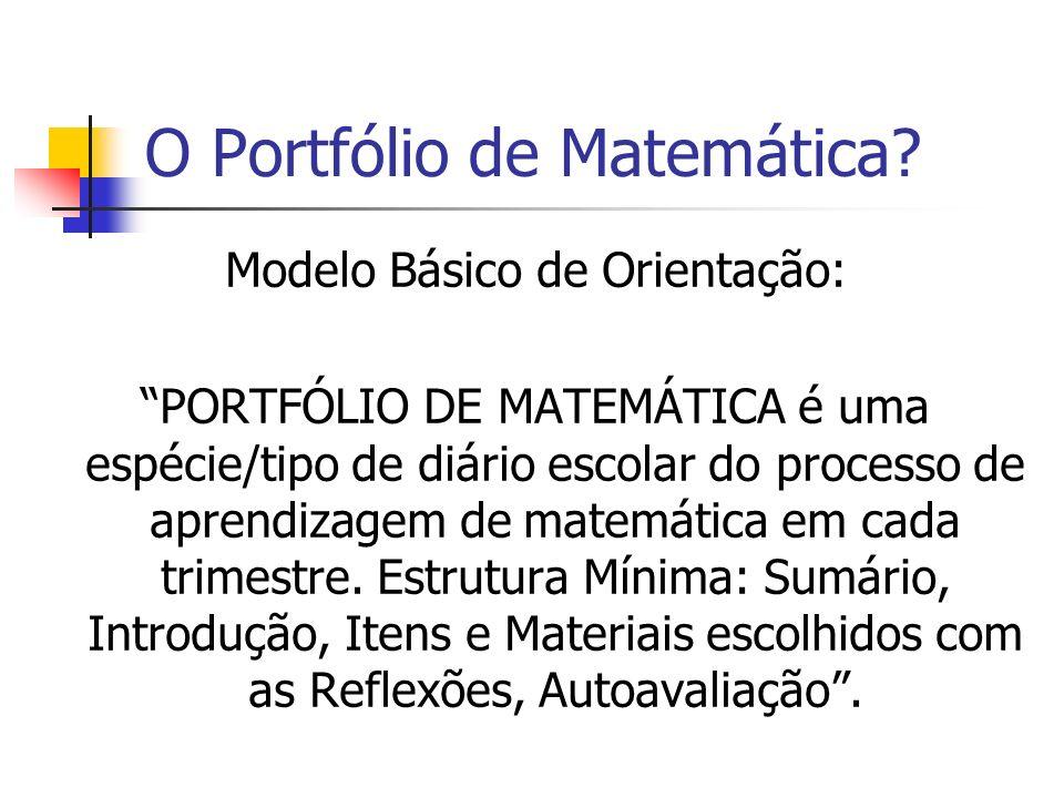 O Portfólio de Matemática