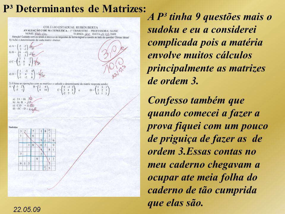 P³ Determinantes de Matrizes:
