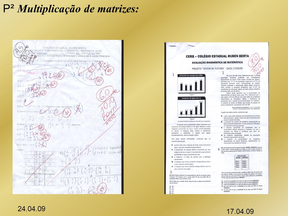 P² Multiplicação de matrizes: