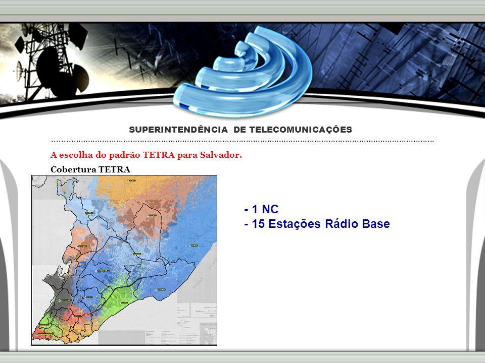 A escolha do padrão TETRA para Salvador.