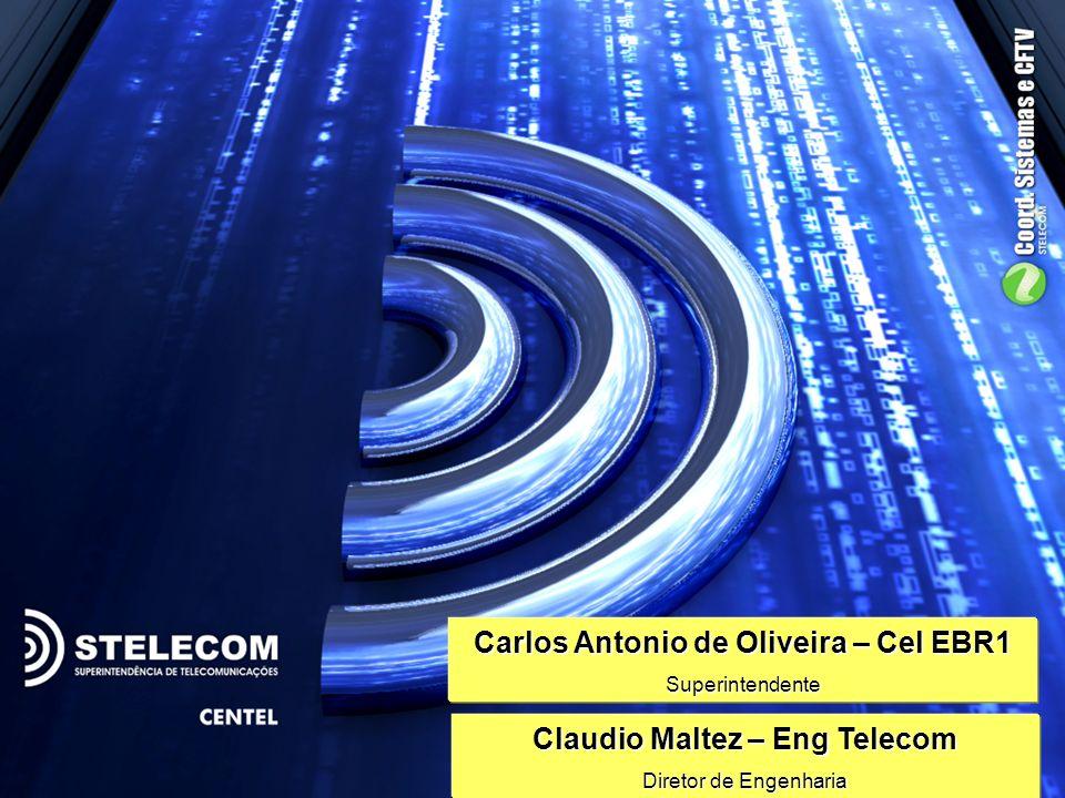 Carlos Antonio de Oliveira – Cel EBR1 Claudio Maltez – Eng Telecom