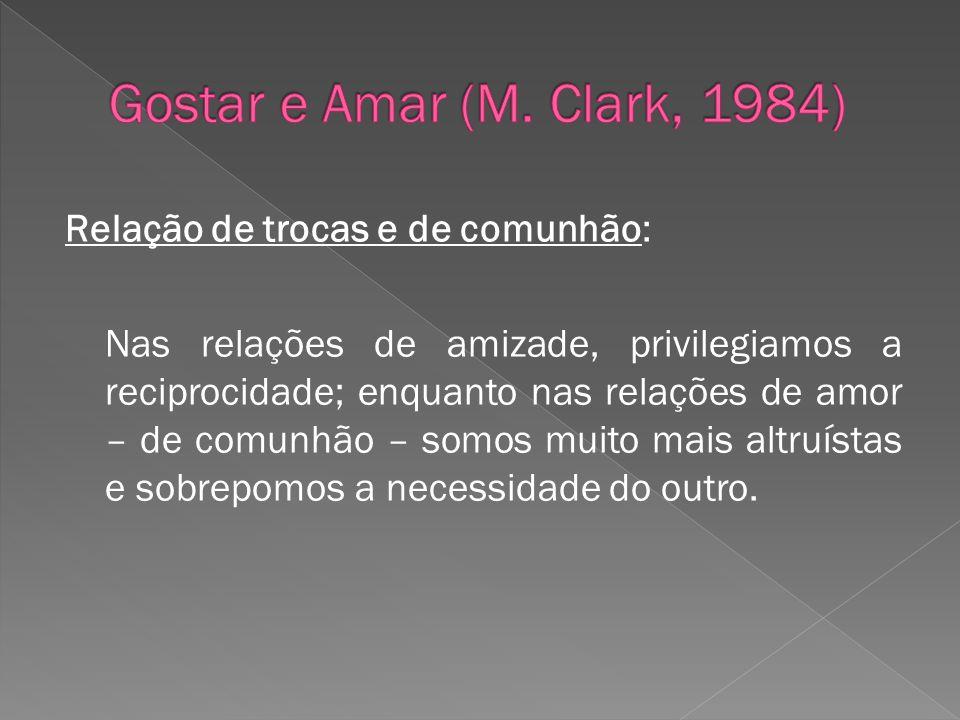 Gostar e Amar (M. Clark, 1984)