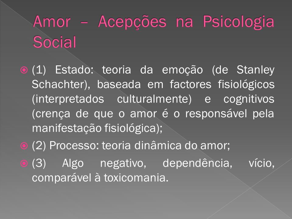 Amor – Acepções na Psicologia Social