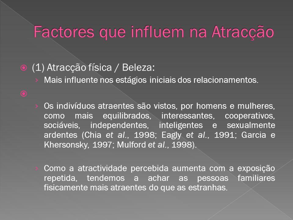 Factores que influem na Atracção