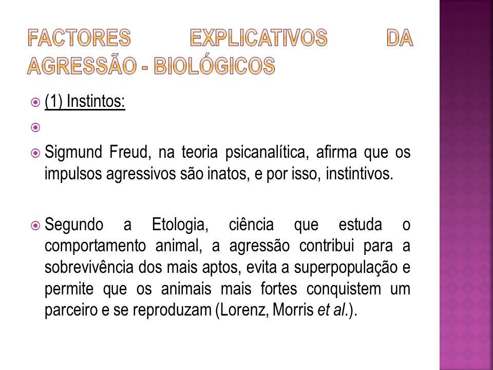 Factores explicativos da agressão - Biológicos
