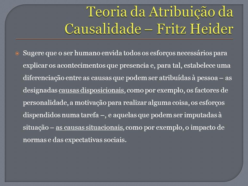 Teoria da Atribuição da Causalidade – Fritz Heider